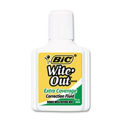 Wite-Out Extra Coverage Correction Fluid, 20 Ml Bottle, White, 1/dozen By: BIC by Office Realm