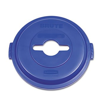 l Brute Plastic Single Stream Recycling Top, for 32 Gallon Container, 22.9-Inch Length X 9-51/64-Inch Width X 23-19/64-Inch Height, Blue (1788380) (32 Gal Brute Waste Container)