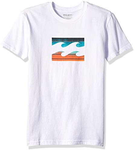 Billabong Boys' Team Wave T-Shirt Shirt White Medium (Billabong White Tee)