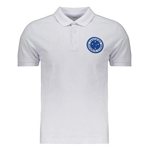 5ba7e7f680 Polo Cruzeiro Escudo Branco