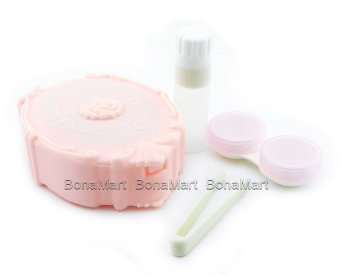 BONAMART Cute Travel Contact Lens Case Kit Holder Mirror Box