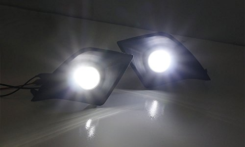 iJDMTOY Lexus F-Sport 15W High Power Projector LED Fog Light Kit For 2014-2016 Lexus IS200t IS250 IS300 IS350, 6000K Xenon White by iJDMTOY (Image #1)