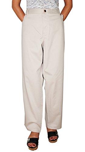 Charter Club Womens Plus Modern Fit Twill Khaki Pants Beige 22W