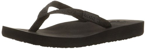 Reef Women's Ginger Flip Flop,Black/Black,5 M US