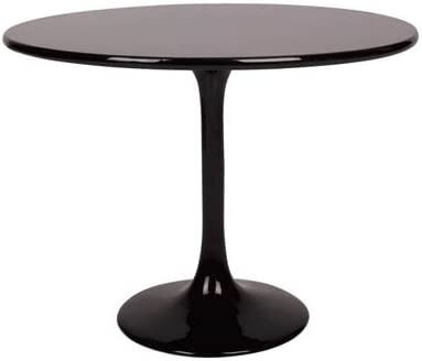 Tulip Stainless Fiber White Marble Dining Table Black Glass Base Round Dining Table Contemporary Table Amazon De Kuche Haushalt