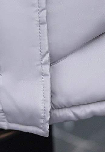 Schwarz Modern Pulsante Solidi Giacca Cappuccio Transizione Ragazza Fashion Donna Cerniera Tasche Anteriori Mantello Invernali Casual Colori Hx Cappotto Piumini Trapuntata Con Stile Di Chic gnTX8O