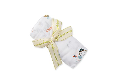 Price comparison product image Angel Dear Pirate Puppy Bamboo Swaddle Blanket (One Size)