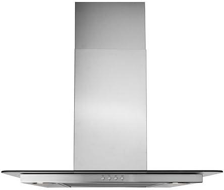 IKEA VINDIG - Wall campana extractora montada, acero inoxidable, vidrio - 60 cm: Amazon.es: Hogar