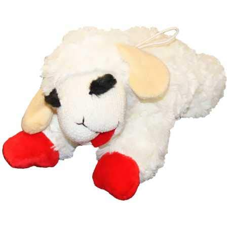 Multipet Lambchop Plush Dog Toy 10″ with Squeaker
