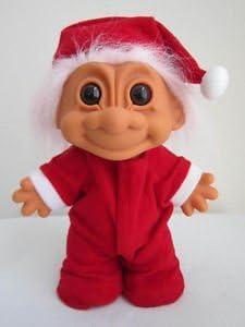 "RUSS Christmas  Santa Clause Troll Doll 5/"""