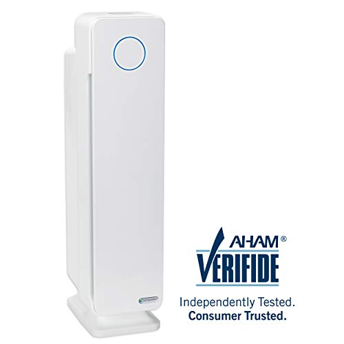 "GermGuardian AC5350W 28"" 3-in-1 Large Room Air Purifier,True HEPA Filter, UVC Sanitizer, Home Air Cleaner Traps Allergens, Smoke, Odors,Mold, Dust, Germs, Pet Dander, 5 Yr Warranty Germ Guardian"