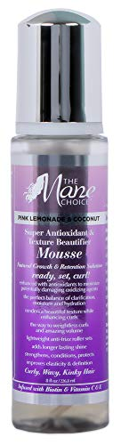 (THE MANE CHOICE Pink Lemonade & Coconut Super Antioxidant & Texture Beautifier Mousse - Perfect Blended Balance of Clarification, Hydration, and Moisture (8 Ounces / 236 Milliliters))