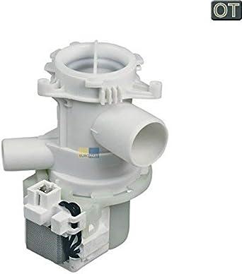 Estructura de bomba marca BEKO original, de drenaje, para lavadoras marca Beko modelos wm6 y wmb.