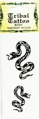 Tribal Snake Temporary Tattoo Sheet