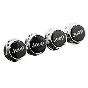 4pcs Chrome Metal License Plate Frame Bolt Screws Fit For Jeep Car Model