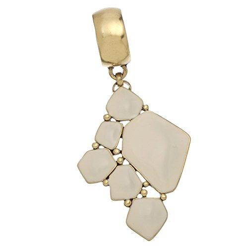 Ivory Epoxy Mosaic Scarf Jewelry Gold (Ivory Epoxy)