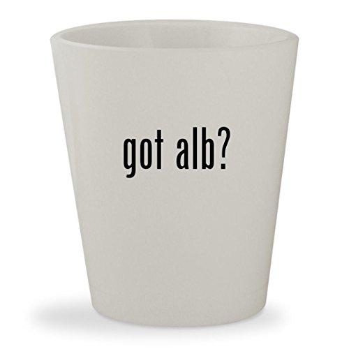 got alb? - White Ceramic 1.5oz Shot Glass