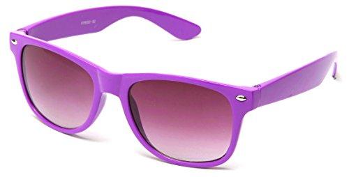 Wayfarer Retro 80's Sunglasses Costume Cosplay Blue Brothers Comfort - Lavender Sunglasses