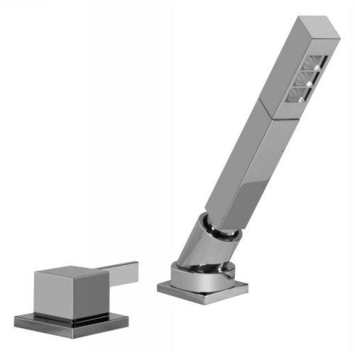 (Graff G-6255-LM39B-SN Qubic Tre Deck-Mounted Handshower & Diverter Set)