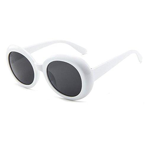style épais mode Gris lunettes soleil lunettes rétro mod blanc de rondes ovales Lunettes Yefree lunettes de 7qUB0zBwF