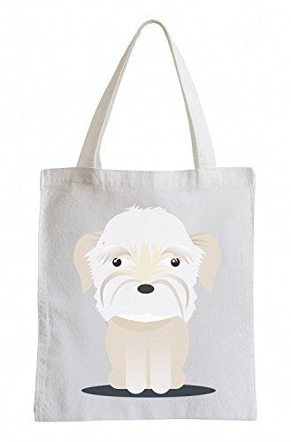 Raxxpurl White Dog Fun sacchetto di iuta