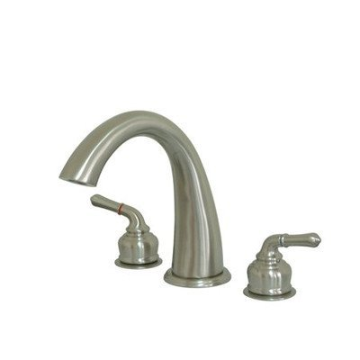 Charles Roman Tub - St. Charles Double Handle Deck Mount Roman Tub Faucet Finish: Satin Nickel