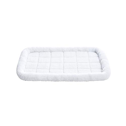 (AmazonBasics Padded Pet Bolster Crate Bed Pad - 35 x 22 Inches )