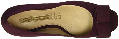 Zs Mujer para 5784 Buffalo Nobuck Zapatos Rojo 15 London 01 OXBLOOD Tacón de O5zz6q