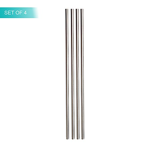 Stainless Steel Straws | Superior 304 Food Grade | Re-Usable and Recyclable with High Tensile Strength (Set of 4 (Straight, Short))
