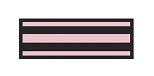 Aspen Surgical 153015EEA I.D. Sheet Tape, 8 1/2'' x 11'', Black/Pink by Aspen Surgical