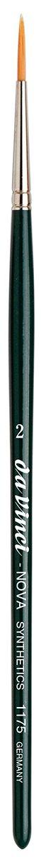da Vinci Graphic Design Series 1175 Nova Lettering//Showcard Brush Size 2 Long Liner Synthetic with Black Handle