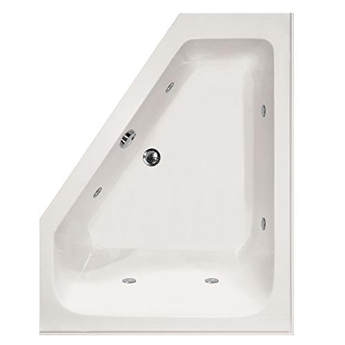 Hydro Systems COU6048ACO-WHI-LH-WOV.PC Courtney Acrylic Tub with Combo System (Drain Included), White/Polished Chrome