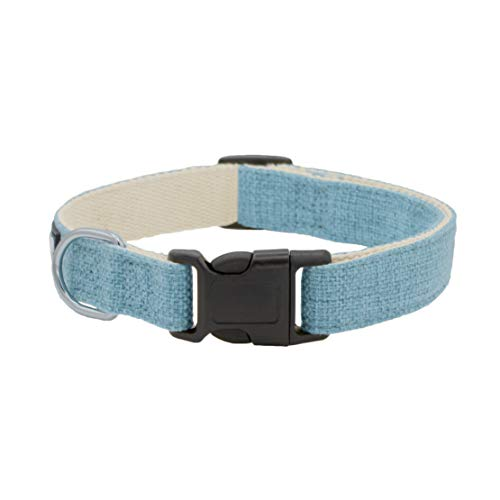 Blue Hemp Dog Collar. Natural, Chemical Free Dog Collars for Your Fuzzy Friends with Sensitive Skin. an Environment Friendly Collar Made of Sustainable Hemp with no Harsh Dyes or Chemicals.