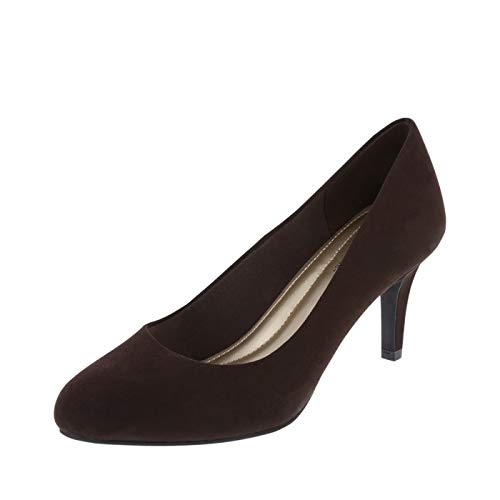 Predictions Comfort Plus Women's Brown Suede Women's Karmen Pump 7 Regular