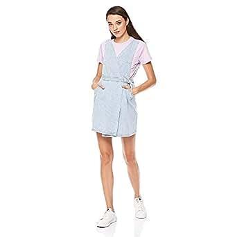 Lee Cooper Denim Wrap Dress for Women - Blue