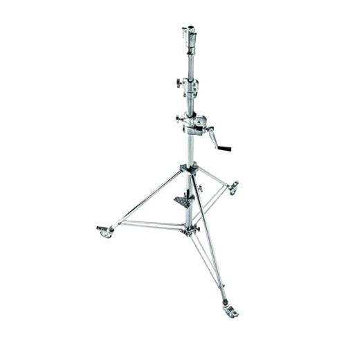 Avenger B6030CS Wind Up Stand 30 with 2 Risers and Braked Wheels (Chrome)