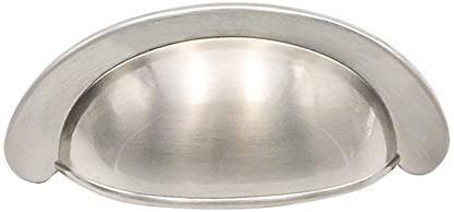 Homdiy Bin Cup Drawer Pulls 10 Pack 2 3 4 In Hole Centers Satin Bin Cup Modern Kitchen Cabinet Hardware For Drawer Dresser
