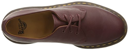 Dr.Martens Womens 1461 3 Eyelet Virginia Leather Shoes Rot