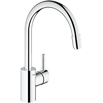 Bon Grohe 3134900E Concetto Single Handle Pull Down Spray Kitchen Faucet