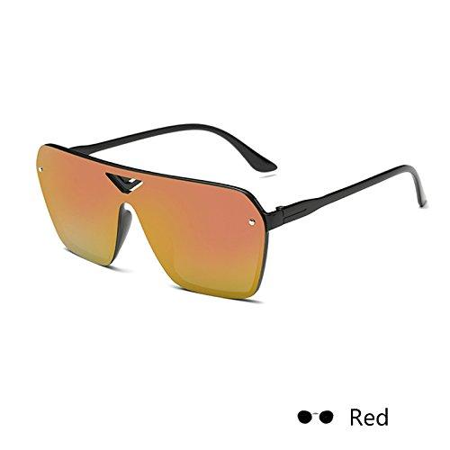 gafas para Rojo mujer lujo Vintage sol hembra negro Gafas de cuadrada de damas espejo de Retro400 ZHANGYUSEN Eyewearuv qwAIUU