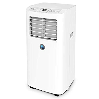JHS 8,000 BTU Small Portable Air Conditioner, 3-in-1 Floor AC Unit with 2 Fan Speeds, Remote Control and Digital LED Display, Cover up to 200 Sq. Ft.