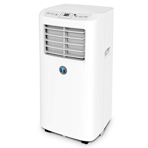 JHS 8,000 BTU Small Portable Air Conditioner, 3-in-1 Floor AC Unit with 2 Fan Speeds, Remote Control and Digital LED Display, Cover up to 200 Sq. Ft. (Best Home Air Conditioning Units)