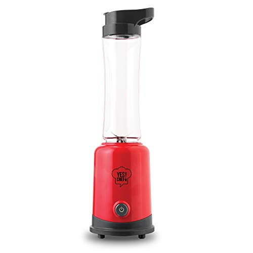Dash Sport Compact Personal Blender with BPA Free Tumbler 20 oz + Carry Loop, Red