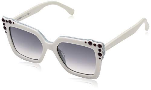 585e41db79f Fendi CAN EYE FF 0260 S WHITE LIGHT TORQUOISE GREY SHADED women Sunglasses