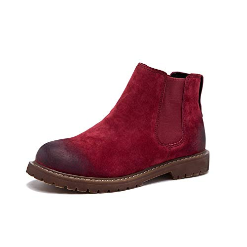 Hiver en Top Cuir Bottes red Chaussures Automne ShishangBottes Bottes Cuir Martin Bottes Femme et en Femme q5fHY5x