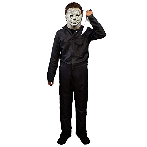 Michael Myers Jumpsuit Coveralls Boys Horror Costume Navy -