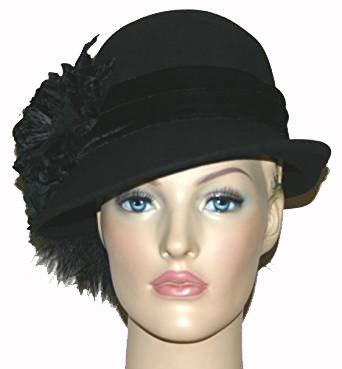 Flapper Hat Cloche Hat Wedding Hat Church East Winter Hat at Amazon ... 8f09c420836