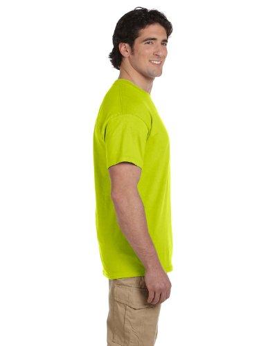 Gildan Men's Seamless Double Needle T-Shirt, Safety Orange, XL