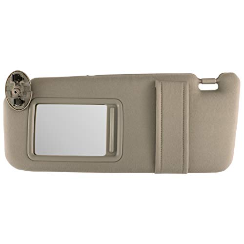 IAMAUTO 35858 New Sun Visor Left Driver Side Tan Beige for 2007 2008 2009 2010 2011 Toyota Camry Without SUNROOF