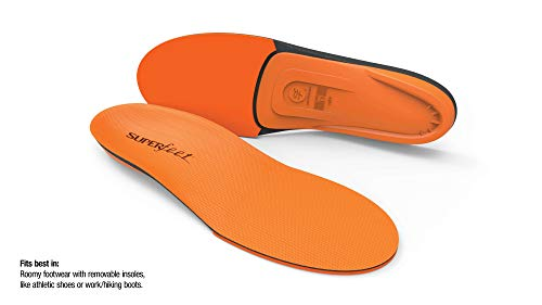 Superfeet ORANGE Insoles, High Arch Support and Forefoot Cushion Orthotic Insole for Anti-fatigue, Unisex, Orange, Medium/D: 8.5-10 Wmns/7.5-9 Mens by Superfeet (Image #1)